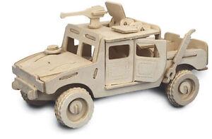 Jeep - QUAY Woodcraft Construction Kit Wooden 3D Model kit P063 Age 7 plus