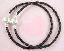 10pcs Brown Charm Leather Bracelets Fit European Beads 20cm P11-1