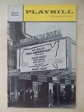 March 19th, 1962 - Winter Garden Theatre Playbill - All American - Ray Bolger