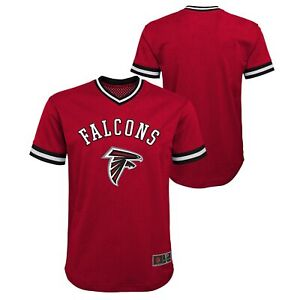 Outerstuff NFL Youth Boys (8-20) Atlanta Falcons Tackle Twill V-Neck Mesh Top