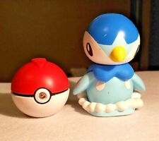 POKEMON 2007 JAKKS REMOTE CONTROL PIPLUP WITH POKEBALL REMOTE TESTED-WORKS (1909