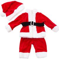 Completo Bambino neonato tutina vestitino Babbo Natale cappellino nuovo FK828