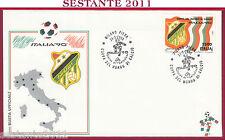 ITALIA FDC BUSTA UFFICIALE ITALIA '90 COPPA DEL MONDO EGITTO 1990 MILANO U861