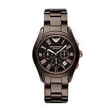 Analoge elegante Armbanduhren in Braun