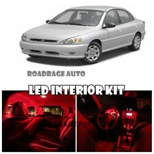 For 01-05 Kia Rio LED Interior Map Dome Trunk Light Bulb Full Red Package Kit