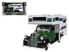 1941 PLYMOUTH Pickup Truck with Camper Die-cast 1:24 Motormax 8 inch Green