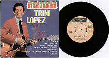 "TRINI LOPEZ ~ ...AT PJ'S (IF I HAD A HAMMER) ~ 1963 UK 3-TRACK MONO 7"" EP + P/S"