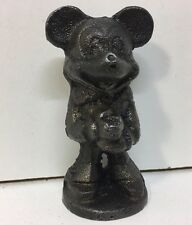 Vintage Walt Disney Productions Mickey Mouse Cast Iron BaseBall Player Rare