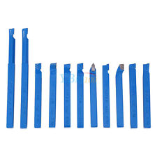 11pcs 8mm Lathe Tools Carbide Brazed Tipped Milling Welding Cutting Turning Bits