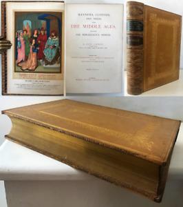 c.1874 Lacroix MANNERS CUSTOMS & DRESS Middle Ages Renaissance 15 Colour Plates