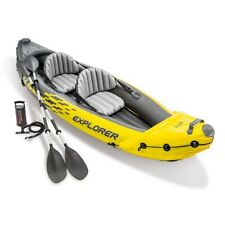 Intex Explorer K2 2-Person Inflatable Kayak Set with Alu Oars and Pump - In Hand