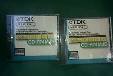 TDK 2 Medical Recordable CD Archive Grade DOCOMO Compatible 650MBPS CDR74MOB New