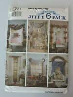 Simplicity Sewing Pattern 7721 Abbies Jiffy 6 Pack Valances Curtains Home Decor
