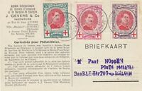 Belgium 1915 Red Cross Souvenir Map on Reverse Stamps Card Ref 45493