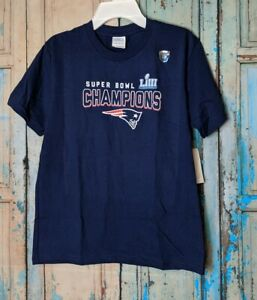Port & Company New England Patriots Youth Small Blue Super Bowl Champs NWT