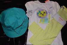 Gymboree Girls 2T NWT Pals leggings, lion shirt & 2T-3T hat lot