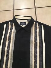 Nat Nast Silk Blend Camp Bowling Rockabilly Casual Cocktail Retro Button Shirt M