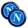 kit 2 adesivi resinati SSC Napoli logo scudetto effetto 3D gommosi silicone