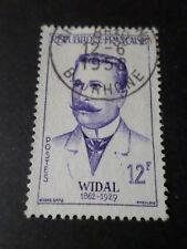 FRANCE 1958 timbre 1143, MEDECIN F. WIDAL, oblitéré, VF STAMP CELEBRITY