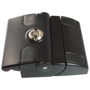 Fallenverschluss compact mit Doppelbartschloss schwarz pulverbeschichtet