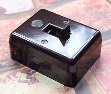Restored Vintage Brown Bakelite Wylex 20A Double Pole Switch - Water Heater