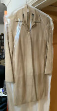 S Max Mara Tan Suede Coat Size 8 *Specialised Dry Cleaned Ready For Selling*