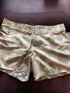 Birdwell Beach Britches 405 Board Shorts Handmade Frog Skin Camo SZ:12