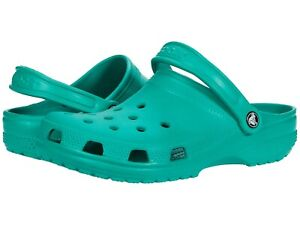 NEW - CROCS Unisex 'CLASSIC' Deep Green SLIP-ON CLOG SANDALS - 8M / 10W