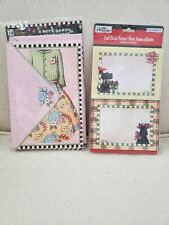 Mary Engelbreit 8 Blank Note Cards & Envelopes with 40 self stick notes