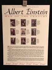 World Of Stamps Albert Einstein Series Collection 9 Stamps Mongol Post Scientist