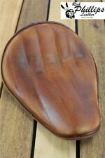 RichPhillips Leather Distressed Motorcycle Seat Harley Sportster Chopper Stitch