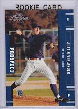 JUSTIN VERLANDER ROOKIE CARD 2005 Playoff Prestige BASEBALL RC Detroit Tiger ACE