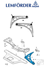 OE BMW 3 E46 316 320 325 318D 320D 330D Front Lower Control Arm Wishbone L + R