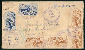 MayfairStamps El Salvador 1956 to Santa Ana Cover wwo61115