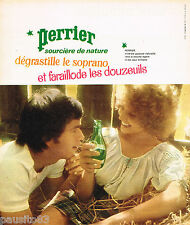 PUBLICITE ADVERTISING 055  1973  PERRIER  eau minérale par JC DEWOLF