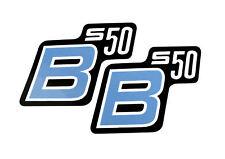 Aufkleber pas. für Simson S50 B S50B Schriftzug blau Kleber Logo Wasserbild Herz