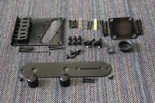 FENDER Telecaster Black Body Hardware Set Modern 6-saddle Bridge - USA Tele
