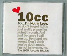 10cc Maxi-CD I'M NOT IN LOVE 1994 ZYX gold cd 3-track The 1995 Acoustic-Session