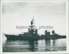 1946 WWII USS Cruiser Target for Atomic Bomb Test Original News Service Photo