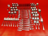 Heiress by Oneida Sterling Silver Flatware Service 85 pieces, Weight 3314 GRAMS