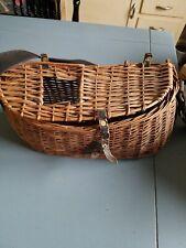4 Vintage wicker fishing baskets