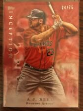 2017 Topps Inception Red Houston Astros Baseball Card #98 A.J. Reed /75. Hot Hot
