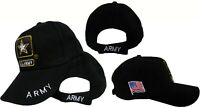 United States Army Star US Military Embroidered Black Baseball Cap Hat Caps Hats