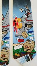 Men's Necktie  Looney Tunes Bugs Bunny postage stamp Collection  Tie 1997