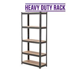 BN Garage Metal Shelf 5 Tier Heavy Duty Shelving Racking Boltless Storage Unit