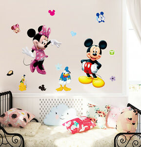 """Disney 19"""" mickey & minnie mouse Removable Wall Stickers Decal Kids Home Decor"""
