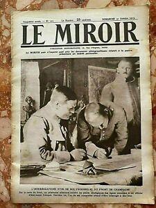 Militaria Journal LE MIROIR n°101 du 31-10-1915 (envoi monde gratuit)