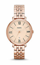 Fossil Women's Jacqueline ES3435 Rose-Gold Stainless-Steel Quartz Fashion Watch