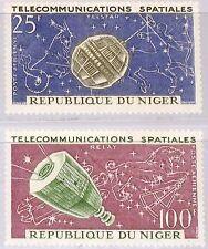Níger 1964 59-60 c36-37 Telstar Capricornus Sagittarius const espacio Space mnh