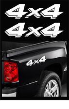 "4X4 TRUCK DECALS, DODGE DAKOTA OFFROAD STICKERS, 2-PACK SIZE: 3.25"" X 13"" WHITE"